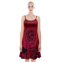 Roses Flowers Red Forest Bloom Spaghetti Strap Velvet Dress by Amaryn4rt