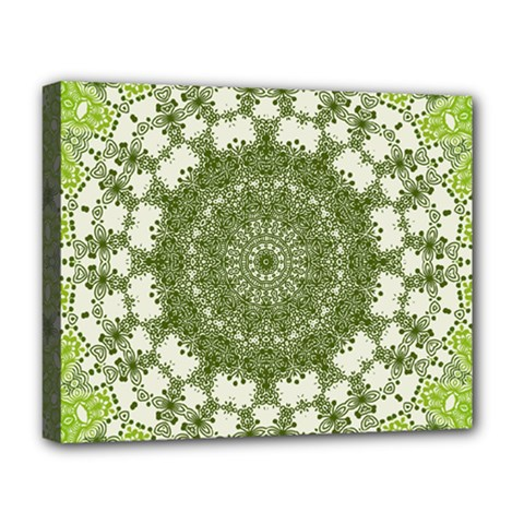 Mandala Center Strength Motivation Deluxe Canvas 20  X 16   by Amaryn4rt