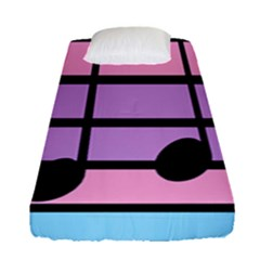 Music Gender Pride Note Flag Blue Pink Purple Fitted Sheet (single Size)