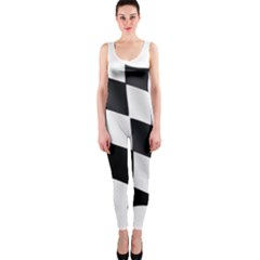 Flag Chess Corse Race Auto Road Onepiece Catsuit by Amaryn4rt