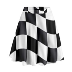 Flag Chess Corse Race Auto Road High Waist Skirt by Amaryn4rt