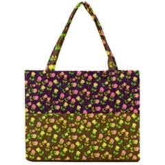 Flowers Roses Floral Flowery Mini Tote Bag by Amaryn4rt