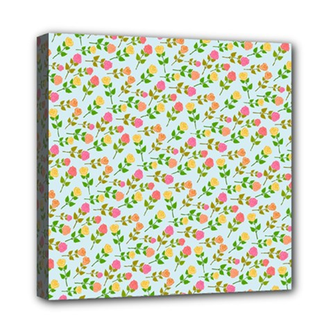 Flowers Roses Floral Flowery Mini Canvas 8  X 8  by Amaryn4rt
