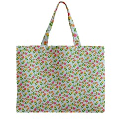 Flowers Roses Floral Flowery Zipper Mini Tote Bag by Amaryn4rt