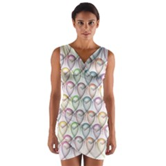 Valentine Hearts 3d Valentine S Day Wrap Front Bodycon Dress