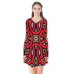 Traditional Art Pattern Flare Dress
