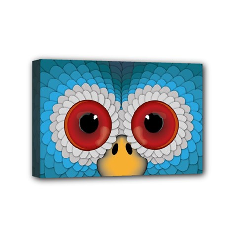 Bird Eyes Abstract Mini Canvas 6  X 4  by Amaryn4rt