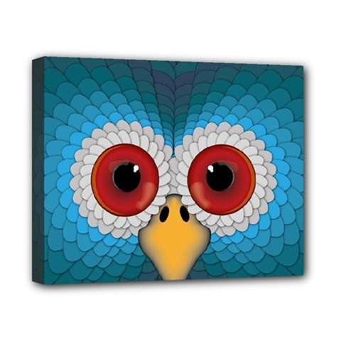 Bird Eyes Abstract Canvas 10  X 8