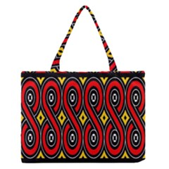 Toraja Traditional Art Pattern Medium Zipper Tote Bag by Amaryn4rt