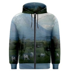 Costa Rica, Mt  Arenal, Big Wave Area & Active Lush Nature Men s Zipper Hoodie