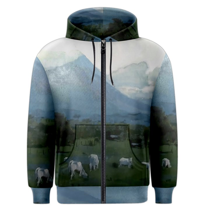 Costa Rica, Mt. Arenal, Big Wave Area & Active Lush Nature Men s Zipper Hoodie