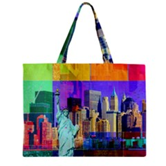 New York City The Statue Of Liberty Zipper Mini Tote Bag by Amaryn4rt