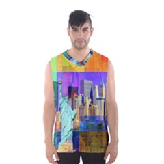 New York City The Statue Of Liberty Men s Basketball Tank Top by Amaryn4rt