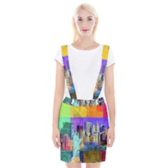 New York City The Statue Of Liberty Suspender Skirt