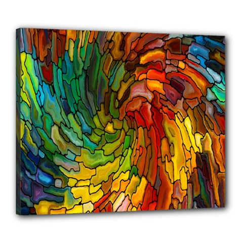 Stained Glass Patterns Colorful Canvas 24  X 20  by Amaryn4rt