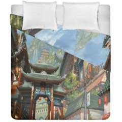 Japanese Art Painting Fantasy Duvet Cover Double Side (california King Size) by Amaryn4rt