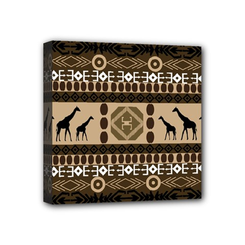African Vector Patterns  Mini Canvas 4  X 4  by Amaryn4rt