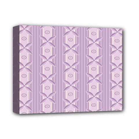 Flower Star Purple Deluxe Canvas 14  X 11  by Alisyart