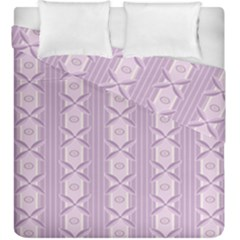 Flower Star Purple Duvet Cover Double Side (king Size) by Alisyart