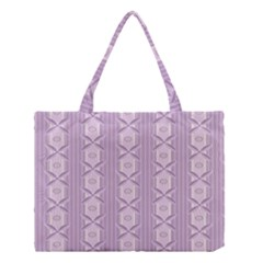 Flower Star Purple Medium Tote Bag by Alisyart