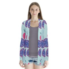 Passion Fruit Pink Purple Cerry Blue Leaf Cardigans by Alisyart