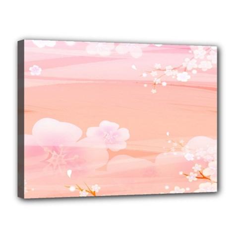 Season Flower Floral Pink Canvas 16  X 12  by Alisyart