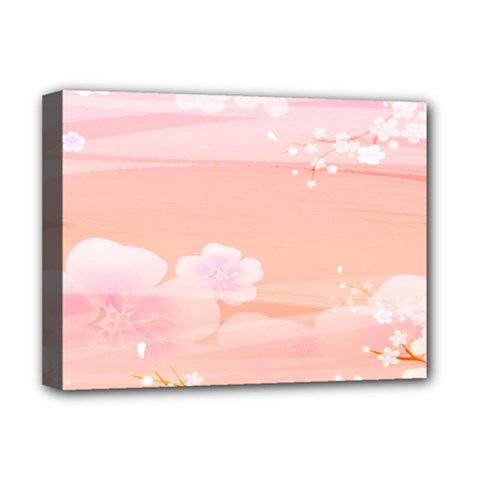 Season Flower Floral Pink Deluxe Canvas 16  X 12   by Alisyart