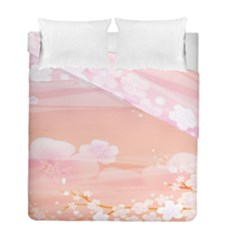Season Flower Floral Pink Duvet Cover Double Side (full/ Double Size) by Alisyart