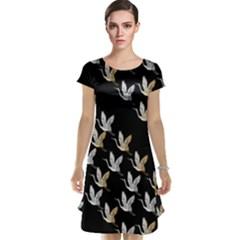 Goose Swan Gold White Black Fly Cap Sleeve Nightdress by Alisyart