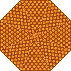 Pumpkin Face Mask Sinister Helloween Orange Golf Umbrellas by Alisyart