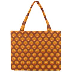 Pumpkin Face Mask Sinister Helloween Orange Mini Tote Bag by Alisyart