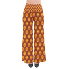 Pumpkin Face Mask Sinister Helloween Orange Pants by Alisyart