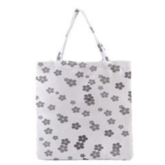 Flower Grey Jpeg Grocery Tote Bag