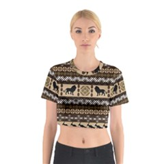 African Vector Patterns  Cotton Crop Top