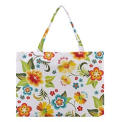 Flower Floral Rose Sunflower Leaf Color Medium Tote Bag by Alisyart