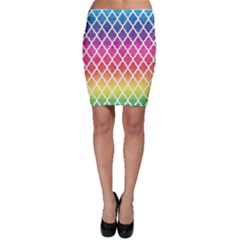 Colorful Rainbow Moroccan Pattern Bodycon Skirt
