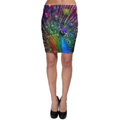 3d Peacock Pattern Bodycon Skirt by Amaryn4rt