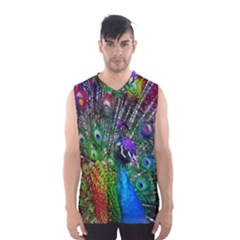 3d Peacock Pattern Men s Basketball Tank Top by Amaryn4rt