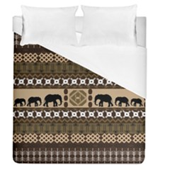 African Vector Patterns  Duvet Cover (queen Size) by Amaryn4rt