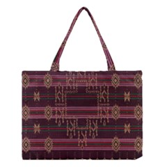 Ulos Suji Traditional Art Pattern Medium Tote Bag by Amaryn4rt