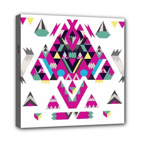 Geometric Play Mini Canvas 8  X 8  by Amaryn4rt