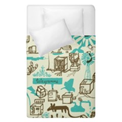 Telegramme Duvet Cover Double Side (single Size)