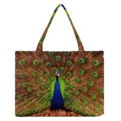 3d Peacock Bird Medium Zipper Tote Bag by Amaryn4rt