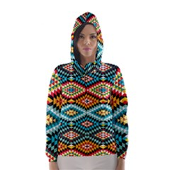 African Tribal Patterns Hooded Wind Breaker (women) by Amaryn4rt