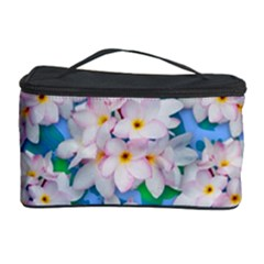 Plumeria Bouquet Exotic Summer Pattern  Cosmetic Storage Case by BluedarkArt