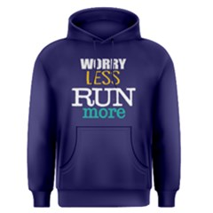 Worry Less Run More   Men s Pullover Hoodie