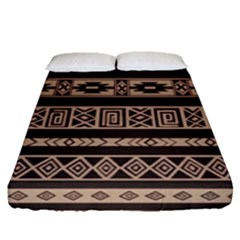 Ethnic Pattern Vector Fitted Sheet (queen Size) by Amaryn4rt