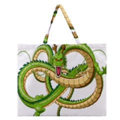 Dragon Snake Zipper Large Tote Bag by Amaryn4rt