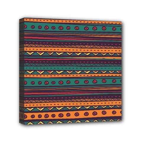 Ethnic Style Tribal Patterns Graphics Vector Mini Canvas 6  X 6  by Amaryn4rt