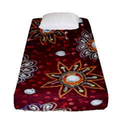 India Traditional Fabric Fitted Sheet (single Size) by Amaryn4rt